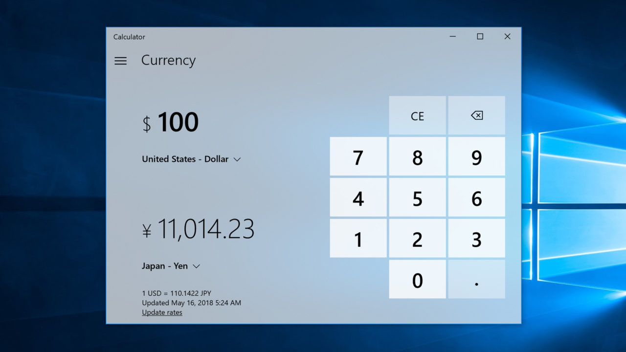 Quick Tip: Use the Calculator App as a Currency Converter in Windows 10