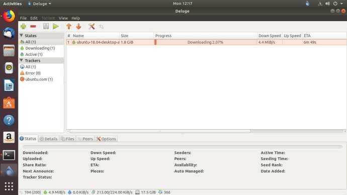 Deluge Torrent Downloading
