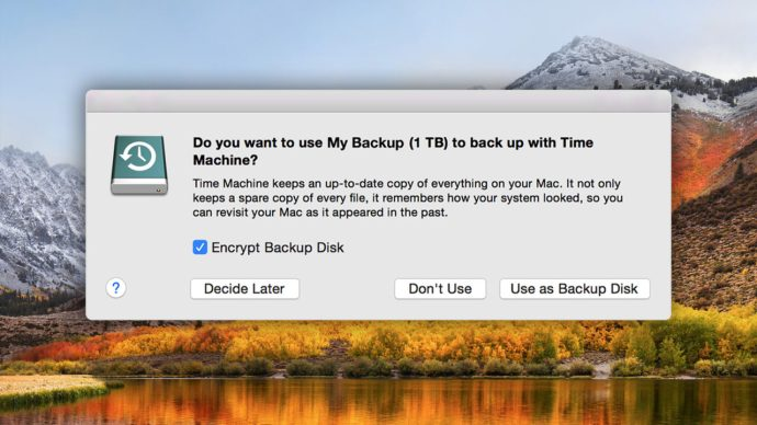 time machine backup drive
