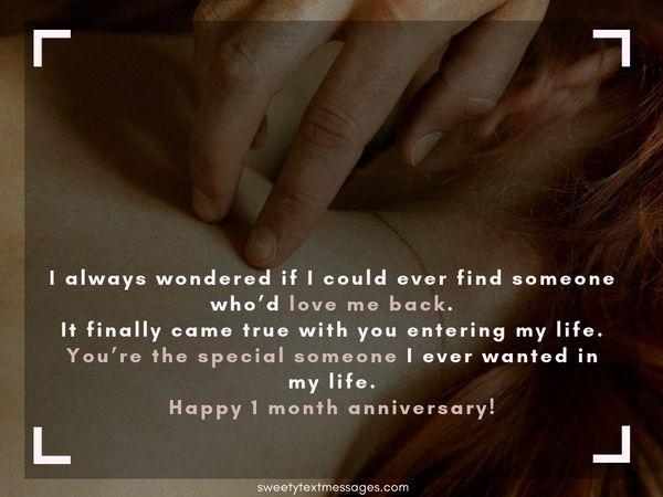 Happy One Month Anniversary Letter To Send My Boyfriend