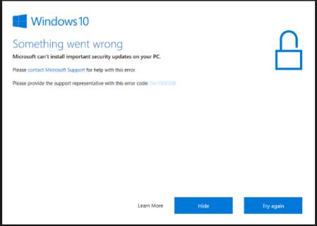 How to fix error 0xc1900208 in Windows 10