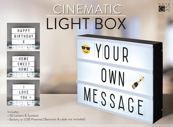 Personalized light box and other cute 1 year anniversary ideas
