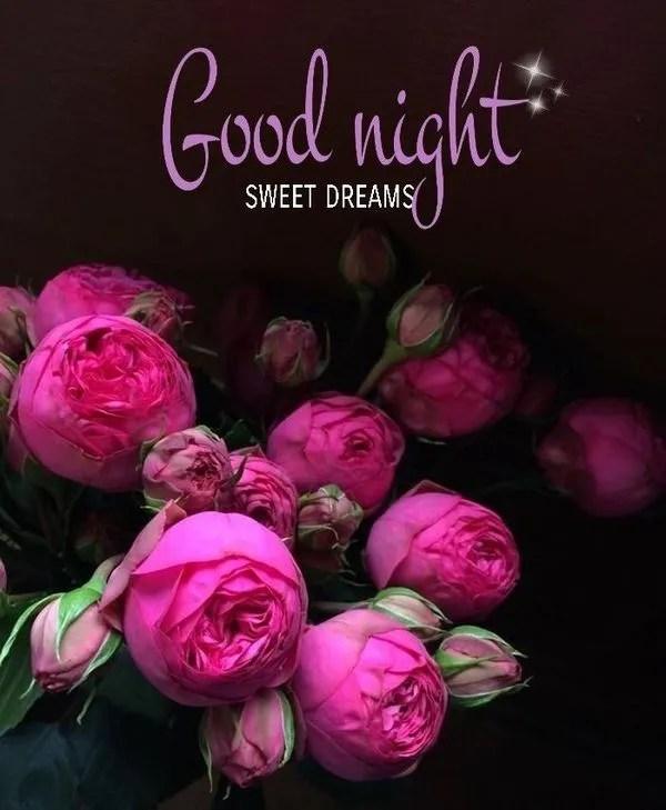 Полезные изображения спокойной ночи с красивыми цветами 5