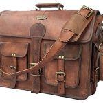 Vintage Handmade Leather Messenger Bag