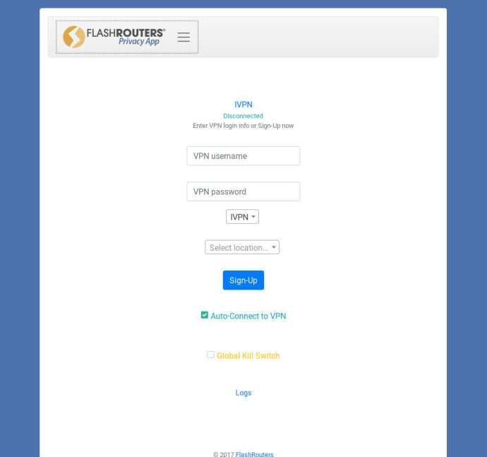 VPN Privacy App Select VPN