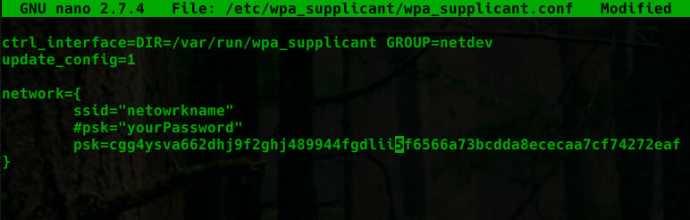 WiFi Setup Pi