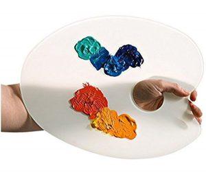 Oval Glass Palette
