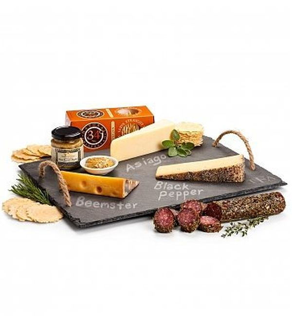 GiftTree Personalized Cheese Slate with Artisan Cheeses