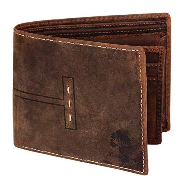 Handmade RFID Blocking Genuine Leather Bifold Wallet