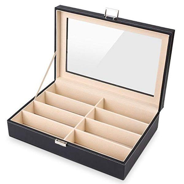 MVPower 8 Slot Eyeglass Sunglass Storage Box
