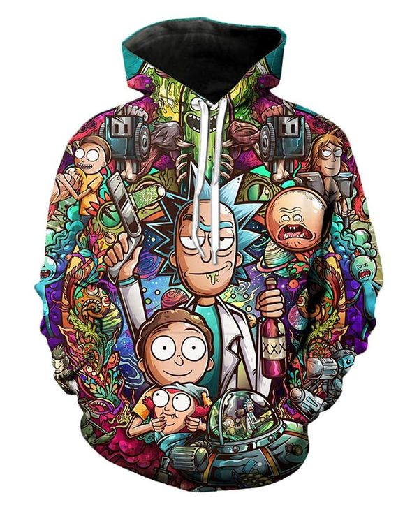 Rick amp Morty hoodie gifts 3