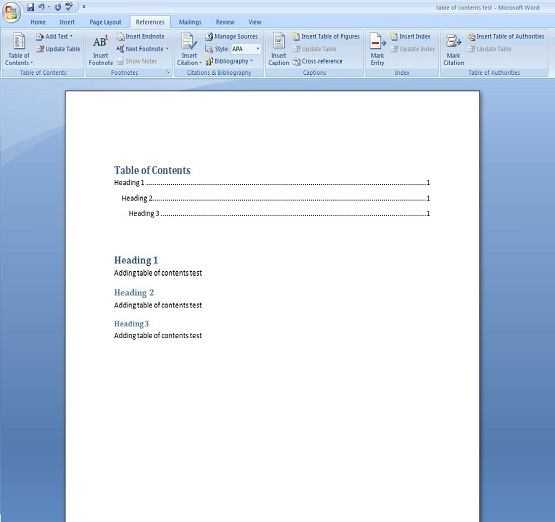 How To Add a Table of Contents to Microsoft Word