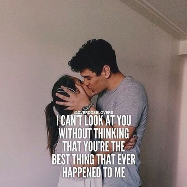 I can not look at you without thinking that you ...