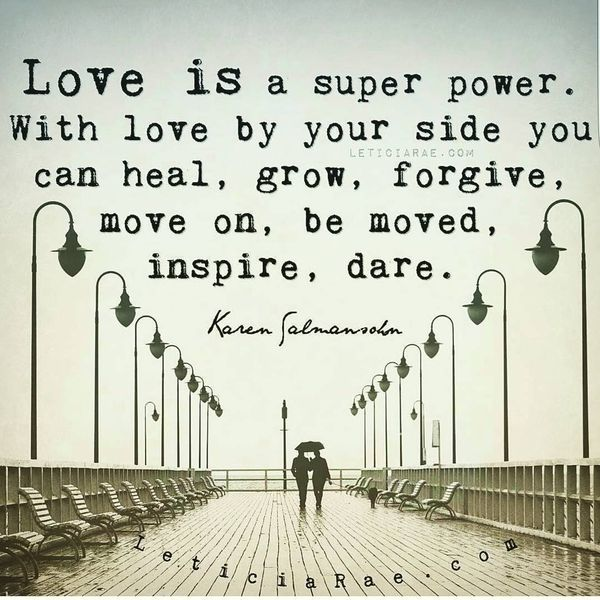 Love is a superpower ...