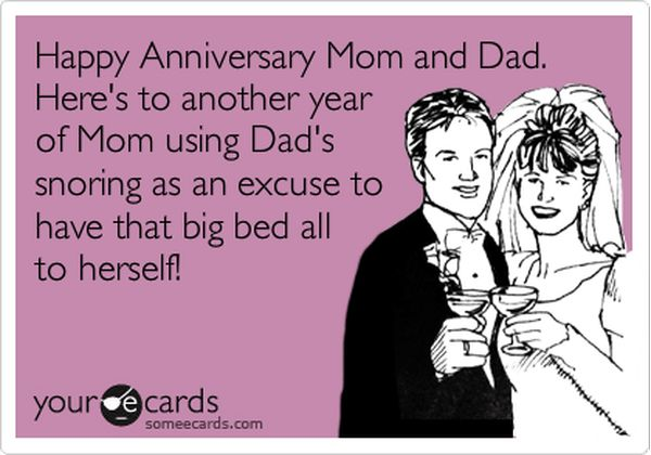 Happy Anniversary Mom and Dad Funny 1