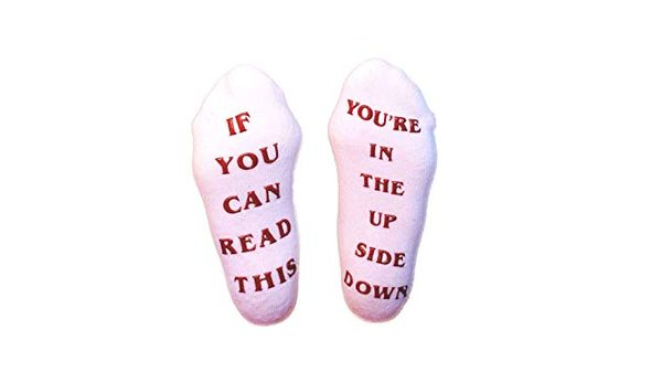Vuu Vuu If You Can Read This Youre In the Upside Down Socks