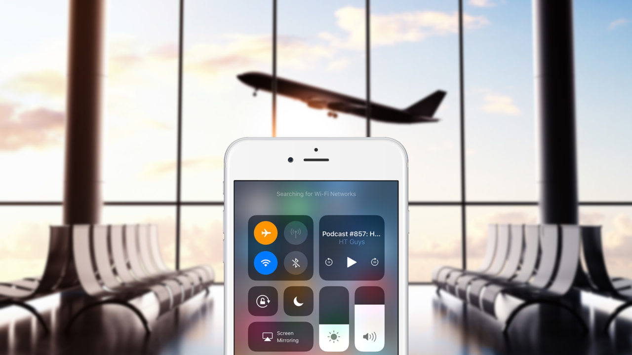 Can you email in airplane mode and use wifi at the same time