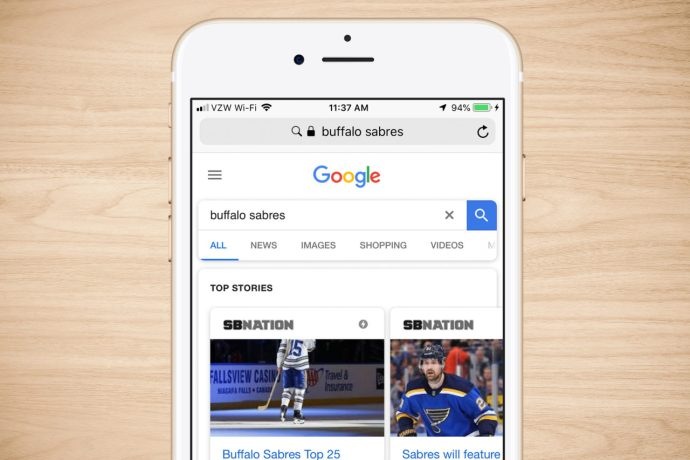iphone search engine google