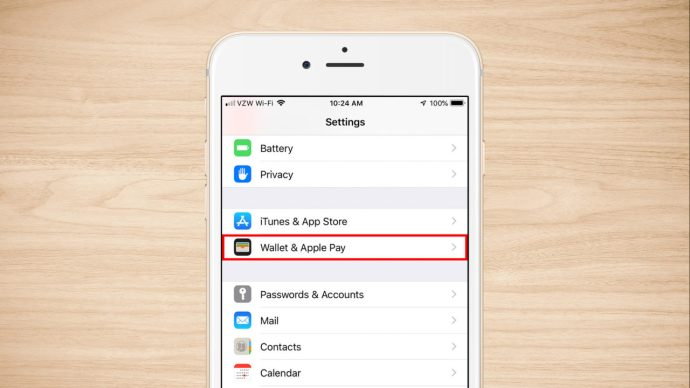 iphone settings wallet apple pay