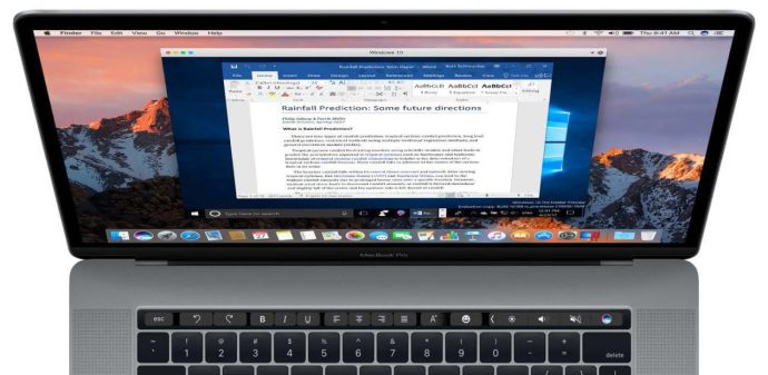 parallels 14 touch bar windows