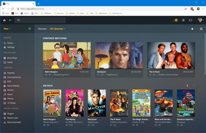 plex web chrome