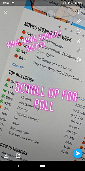 How to make a snapchat poll