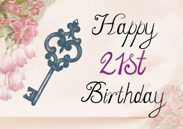 Congratulations on her 21st birthday