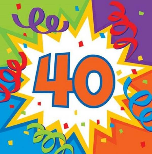 Beautiful graphics for 40th birthday free