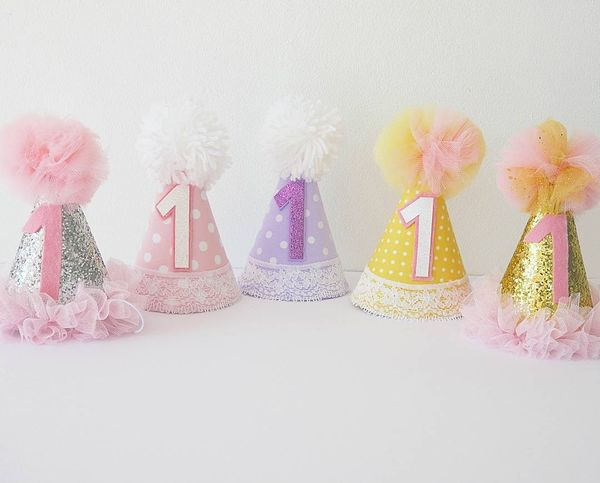 детские праздничные шапки на 1 день рождения
