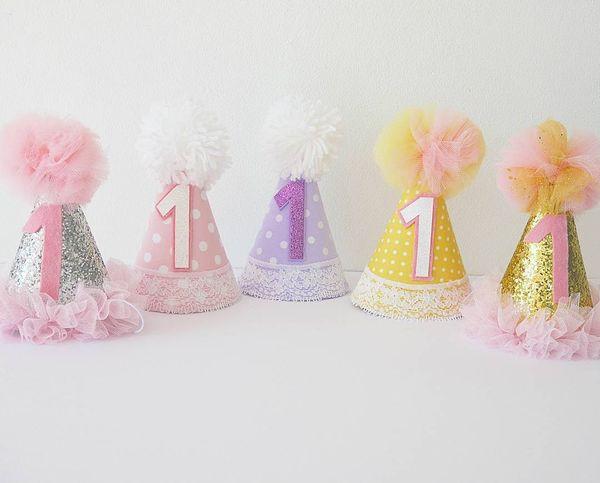 children holiday caps on 1st birthday