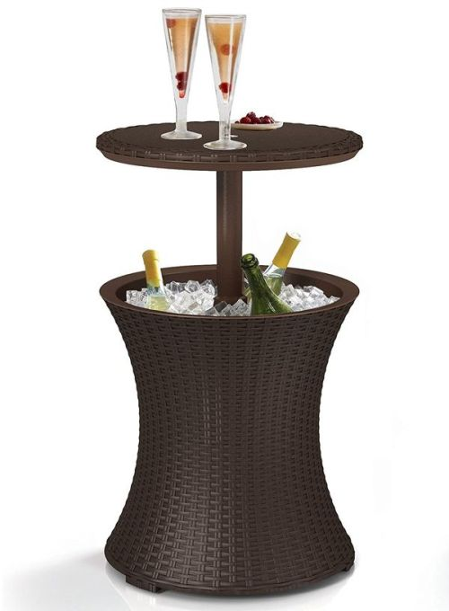 Keter 7.5Gal Cool Bar Rattan Style Outdoor Patio