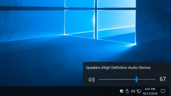 new volume slider windows 10
