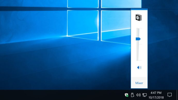 old volume slider windows 10