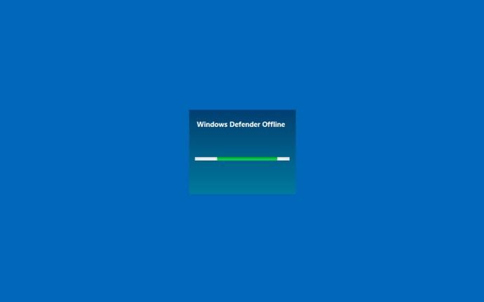 Windows Defender offline startskärm