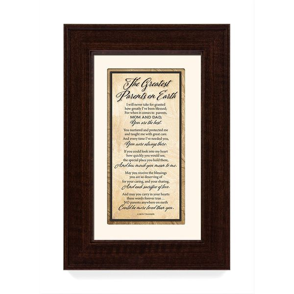 The Greatest Parents on Earth Wood Wall Art Frame Plague