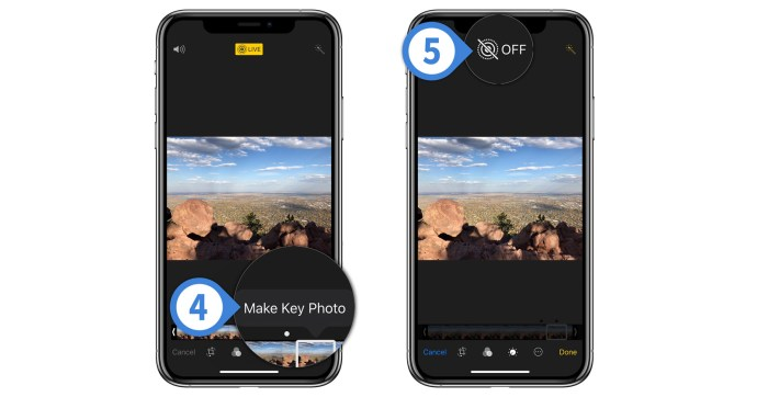 convert live photo to still iphone
