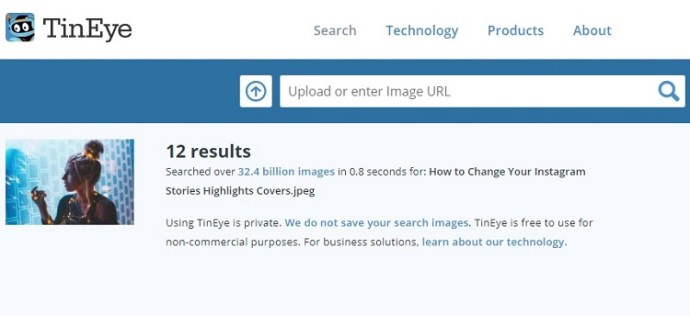 Search for images with reverse image search