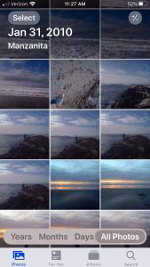 select photos in iPhone photos