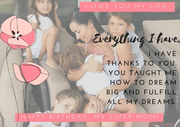 A touching birthday saying for mom's birthday