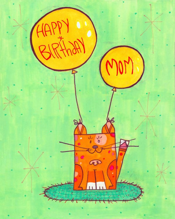 Happy Birthday Mom Card