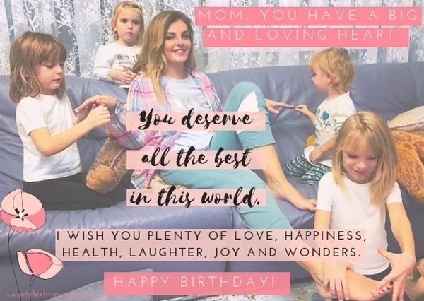 Good happy birthday wish for mom from daughter