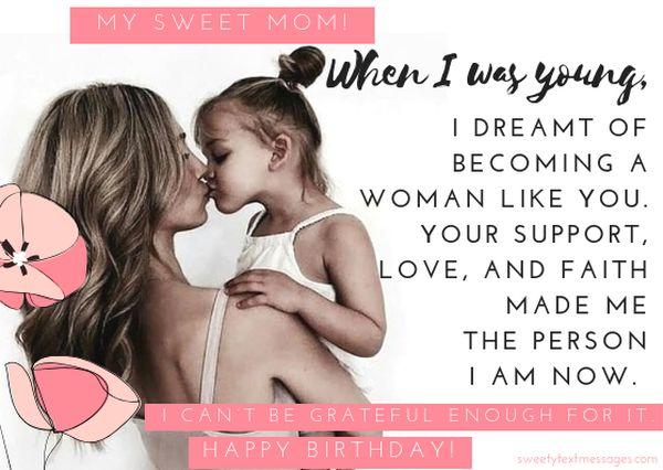 Nice way to wish your mom happy Bday