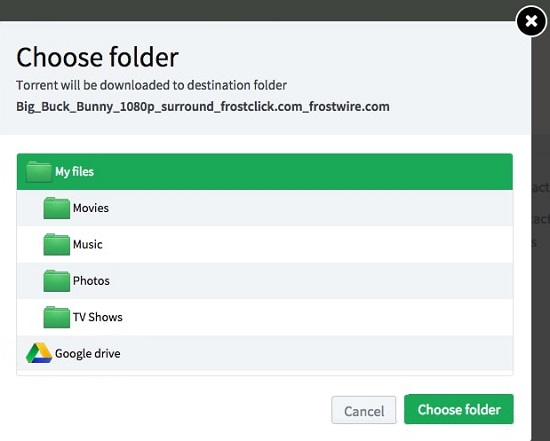 Google Drive Bitport