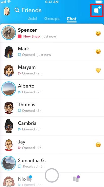 Wie man auf Snapchat chattet