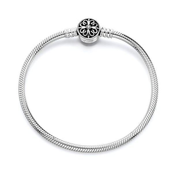 Long Way Sterling Silver Snake Chain Bracelet