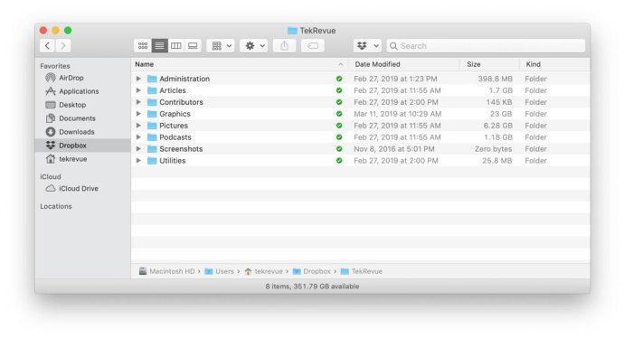 dropbox mac finder sidebar