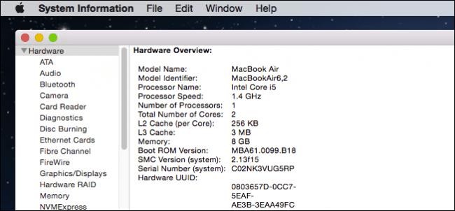 mac sys info