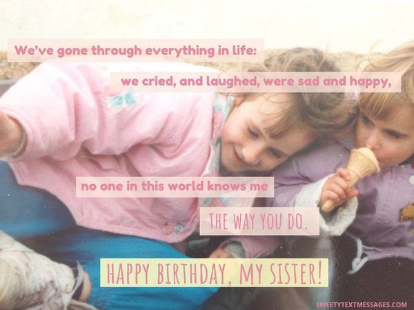 Cute Birthday Quotes for Sister 2