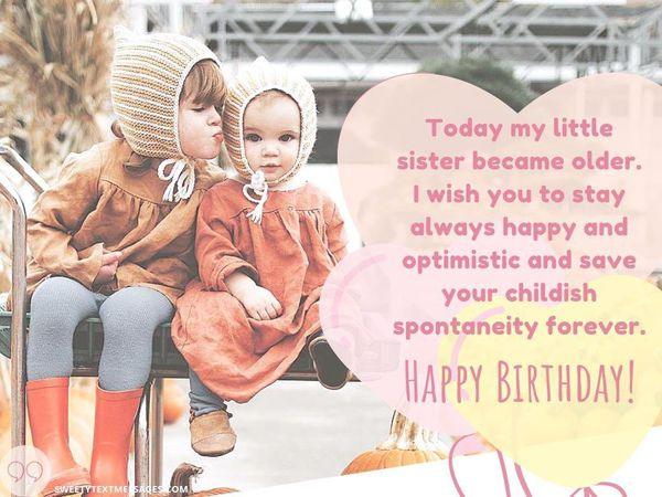 Peachy Happy Birthday Sister Quotes And Wishes To Text On Her Big Day Funny Birthday Cards Online Inifofree Goldxyz