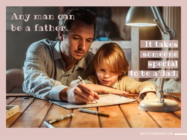 Good quote to send to your father